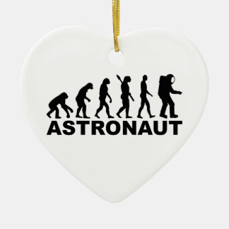 Evolution Astronaut Ceramic Heart Decoration