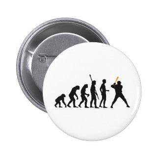 evolution baseball 6 cm round badge