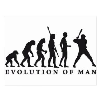 evolution baseball postcard