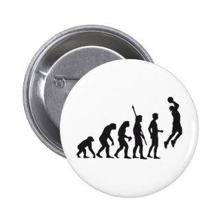 evolution basketball 6 cm round badge