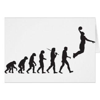 Evolution - Basketball Jump Greeting Card