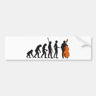 evolution bass bumper sticker