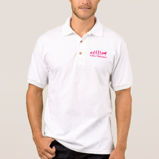 Evolution be a unicorn polo shirt