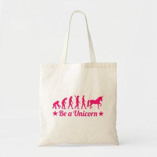 Evolution be a unicorn tote bag