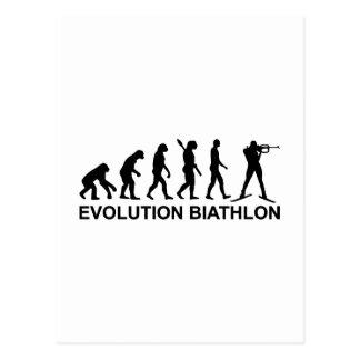 Evolution Biathlon Ski Postcard