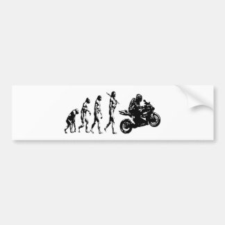 evolution bike car bumper sticker