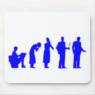 evolution blue mouse pad
