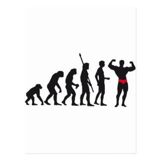 evolution bodybuilding postcard