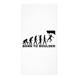 Evolution Born to Boulder Photo Card