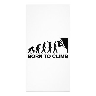 Evolution born to climbing photo cards