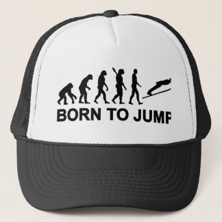 Evolution born to jump ski jumping trucker hat