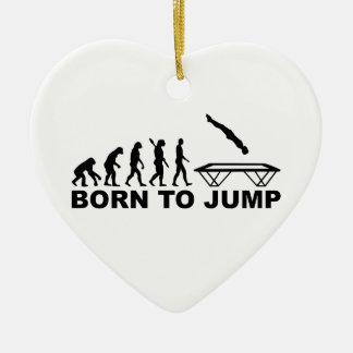 Evolution born to jump trampoline ceramic ornament