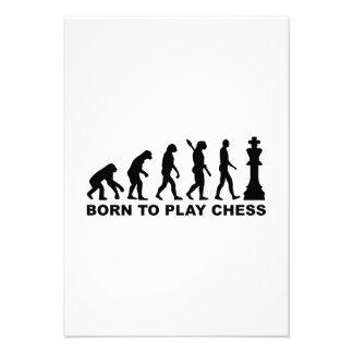 Evolution born to play chess custom invite