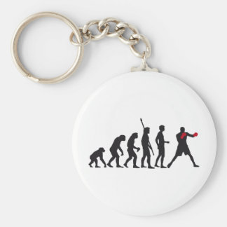 evolution boxing basic round button key ring
