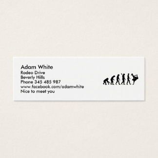 Evolution Breakdance Mini Business Card