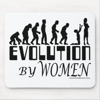 Evolution by Women Mouse Pad