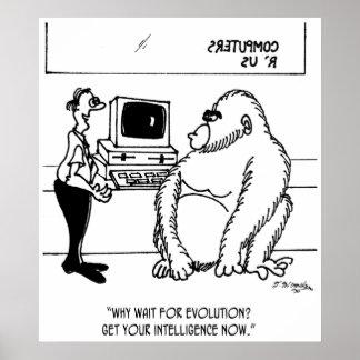 Evolution Cartoon 2839 Poster