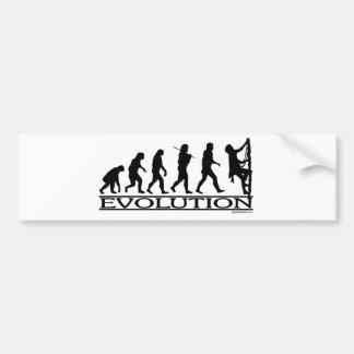 Evolution - Climbing Bumper Sticker