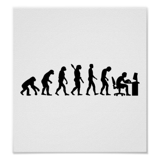 Evolution computer office posters