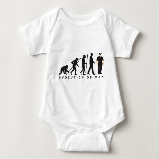 evolution copilot, sheriff, marshal, policeman baby bodysuit