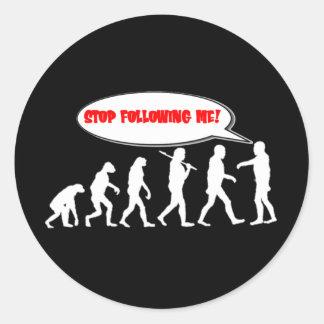 Evolution / Creation Stop Following Me Sticker
