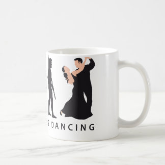 evolution dancing couple coffee mug