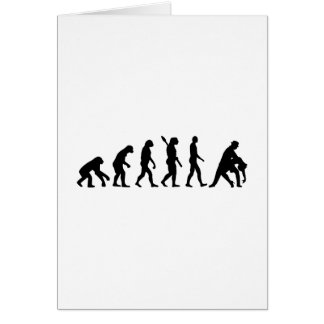 Evolution dancing couple greeting card