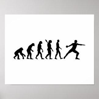 Evolution Discus throw Poster