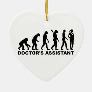 Evolution doctor's assistant ceramic ornament