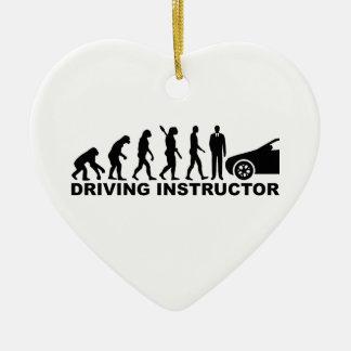 Evolution driving instructor ceramic heart decoration