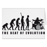 evolution drummer greeting card