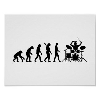 Evolution drummer poster