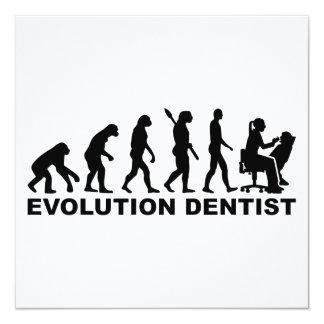 Evolution female dentist card