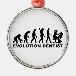 Evolution female dentist metal ornament