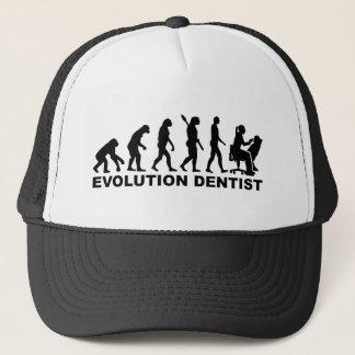 Evolution female dentist trucker hat