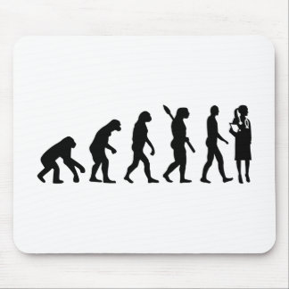 Evolution female doctor mouse pad