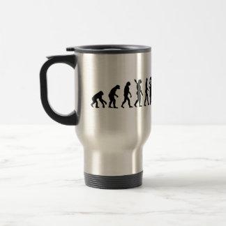 Evolution female doctor travel mug