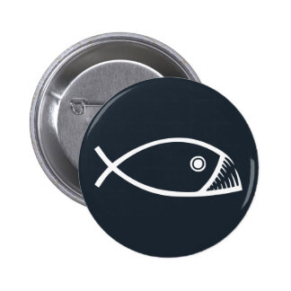 Evolution Fish 6 Cm Round Badge
