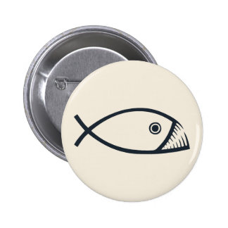 Evolution Fish Pinback Button