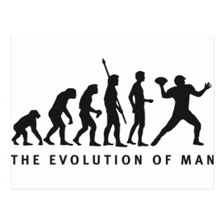 evolution football postcard