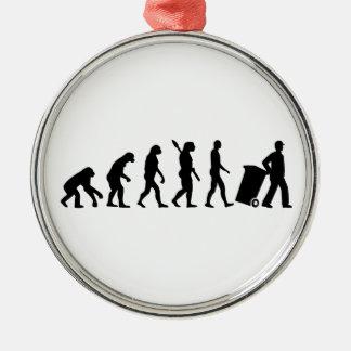 Evolution garbage man metal ornament