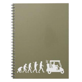 evolution golf notebook