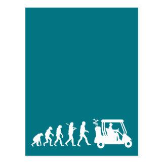 evolution golf postcard