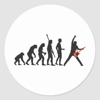 evolution guitar round sticker