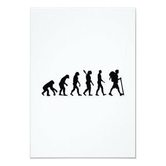 Evolution Hiking 9 Cm X 13 Cm Invitation Card