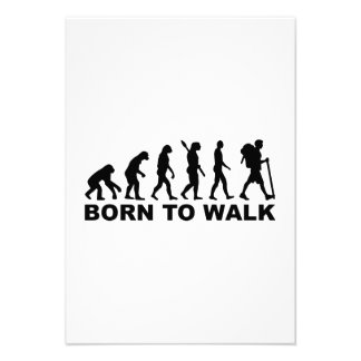 Evolution Hiking born to walk Personalized Announcement