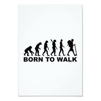 Evolution Hiking born to walk 3.5x5 Paper Invitation Card