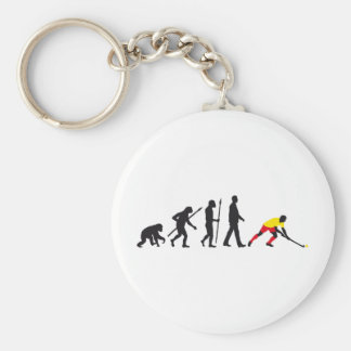 evolution hockey more player basic round button key ring