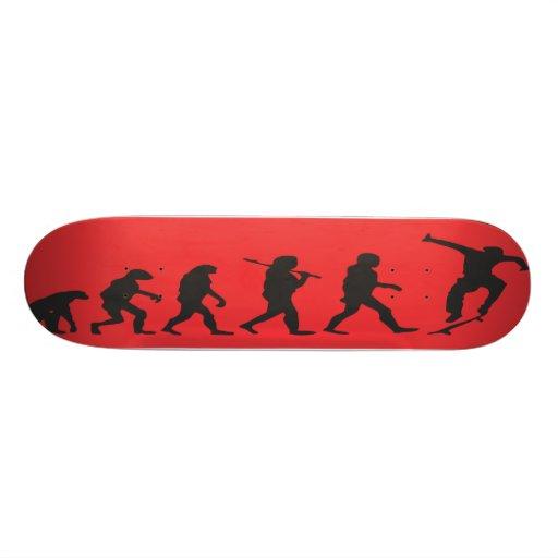 Evolution in Red Skateboard