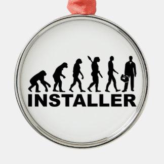 Evolution installer Silver-Colored round decoration